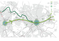 Leeds-Bradford Cycle Superhighway Map