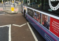 Bus parked on a cycle box ASL
