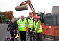 Digger, bikes, Hillam Rd image